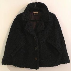 Vintage B.Altman & Co Black Swing Coat Cape